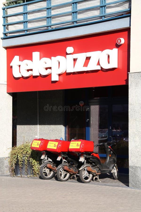 Telepizza imagem de stock royalty free