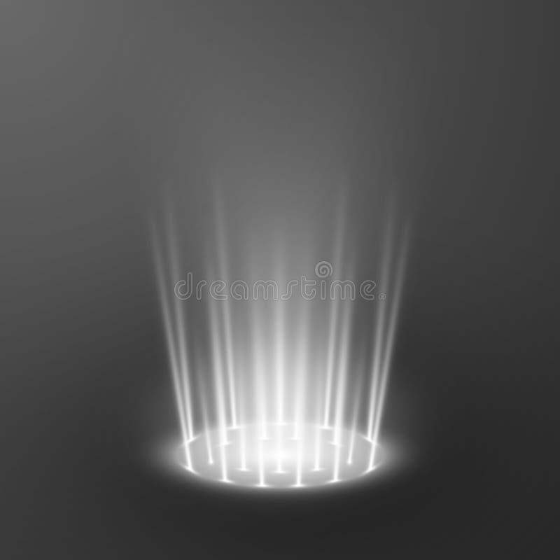 Teleport efeitos da luz Portal m?gico Elemento holográfico futurista do projeto Ilustra??o do vetor ilustração royalty free