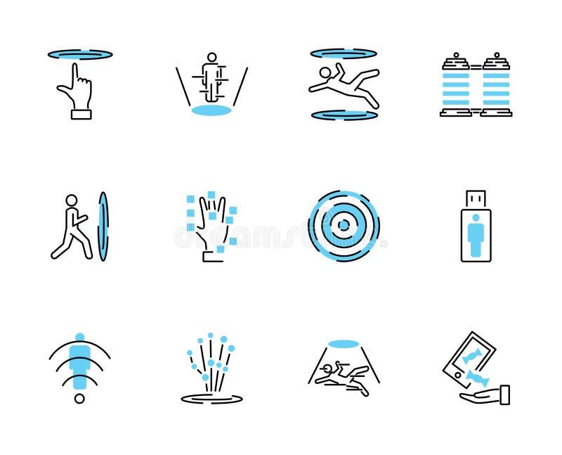 Teleporting комплект собрания значка Иллюстрация вектора с транспортом иллюстрация штока