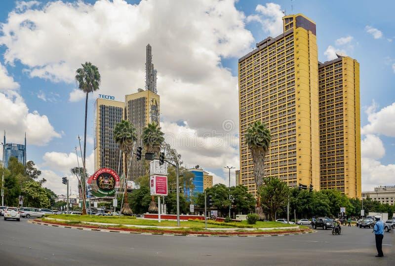 Teleposta-Türme in Nairobi-Stadt, Kenia stockbild