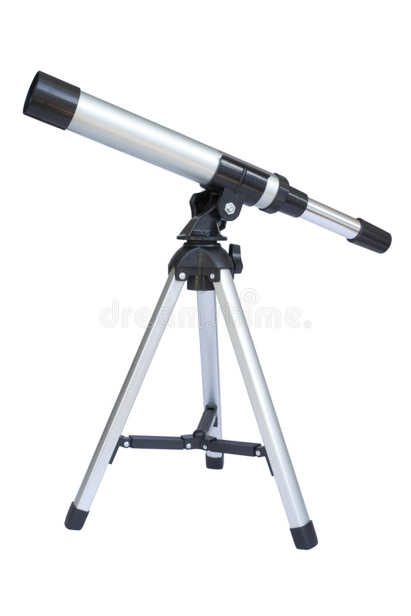 Telescópio foto de stock