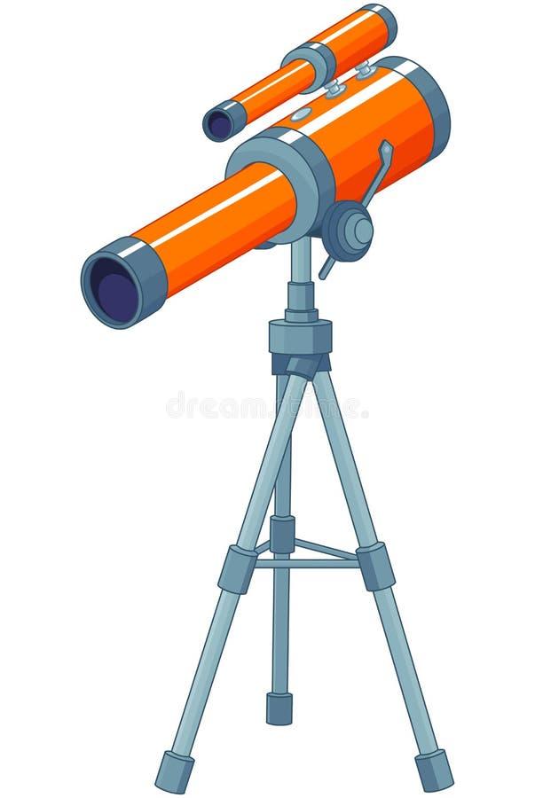 telescópio ilustração royalty free