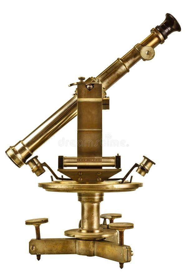 Telescópio antigo isolado no branco imagem de stock royalty free
