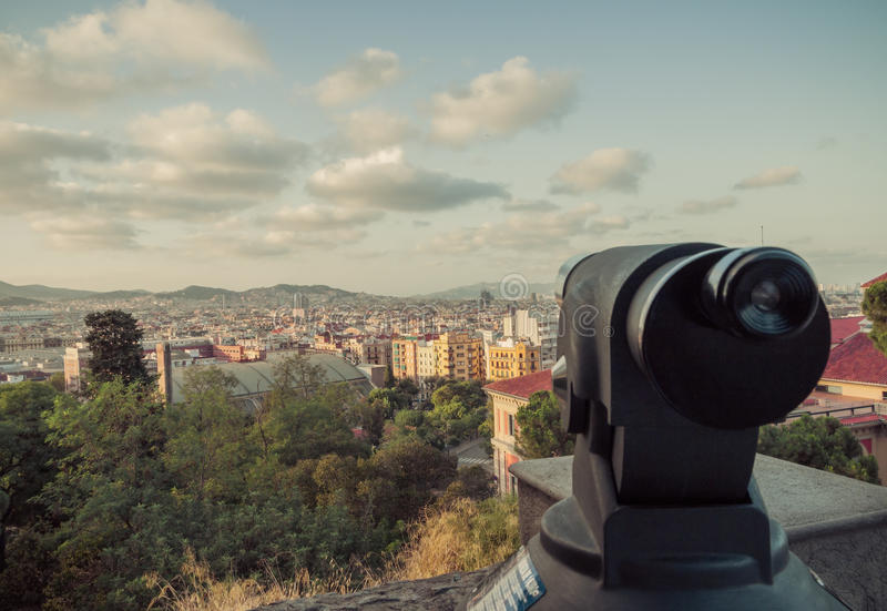 Telescópio Barcelona. Catalonia, Espanha. foto de stock