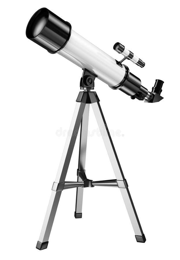 telescópio 3D ilustração royalty free
