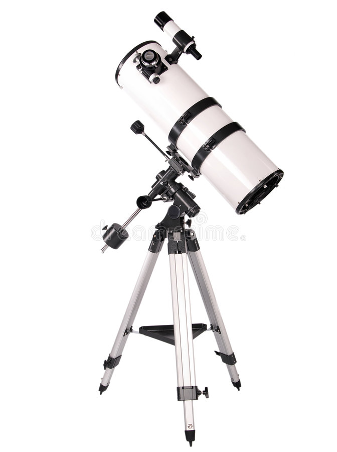 Telescópio de Dobsonian fotografia de stock