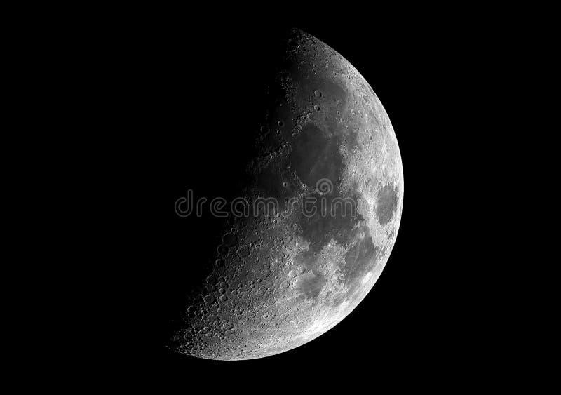 Telescópio direto imaged da meia lua imagem de stock royalty free