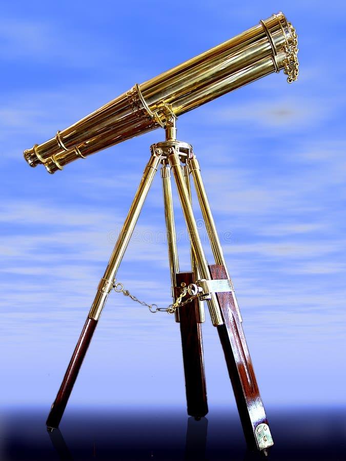 Telescópio Do Vintage, Foto de Stock