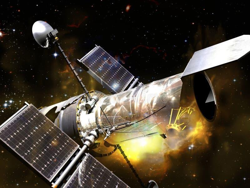 Telescópio espacial ilustração royalty free