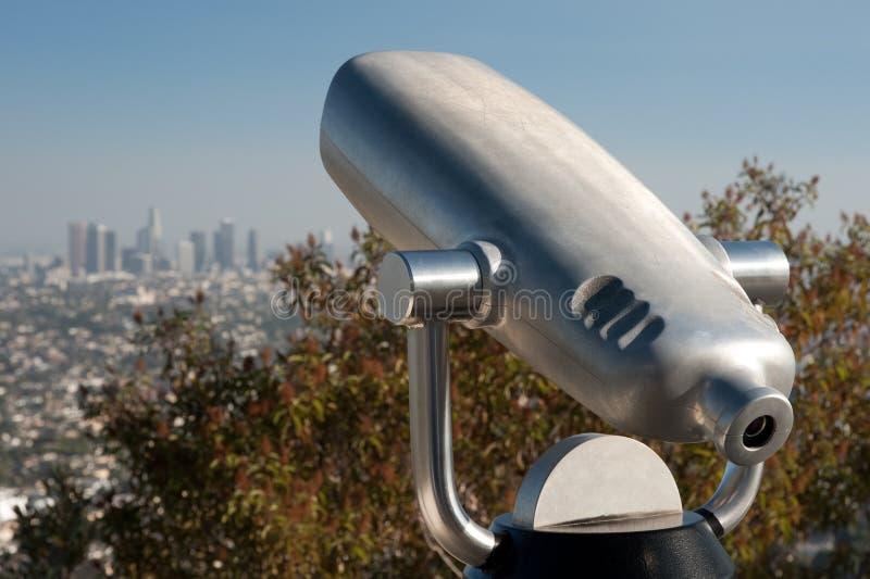 Telescópio a fichas de Los Angeles foto de stock royalty free