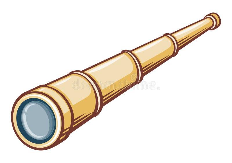 Telescópio pequeno ilustração do vetor