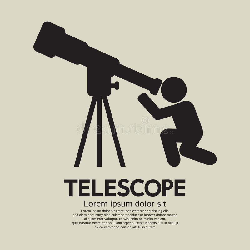 Telescoop Grafisch Symbool vector illustratie