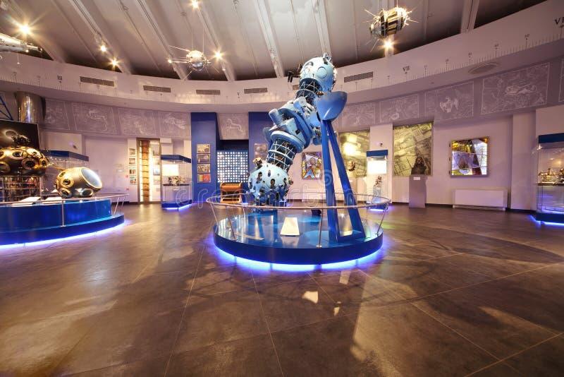 Telescoop in het Planetarium van Moskou stock afbeeldingen