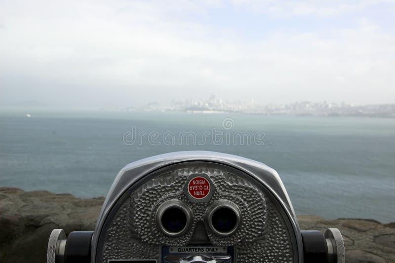 Telescop de touriste de San Francisco images libres de droits