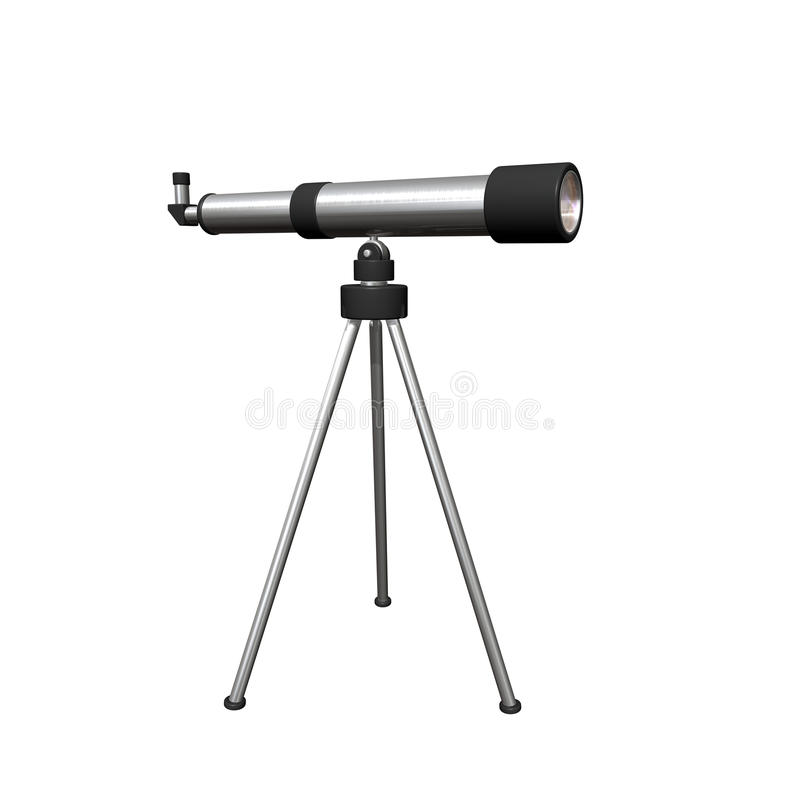 Telescope royalty free illustration