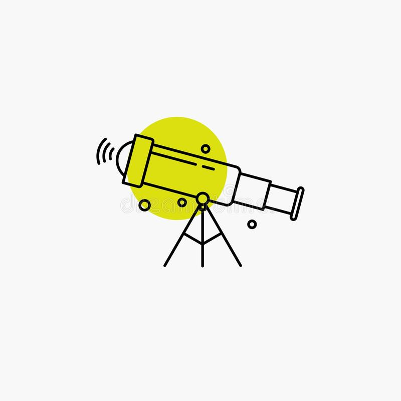 Telescope, astronomy, space, view, zoom Line Icon. Vector EPS10 Abstract Template background vector illustration