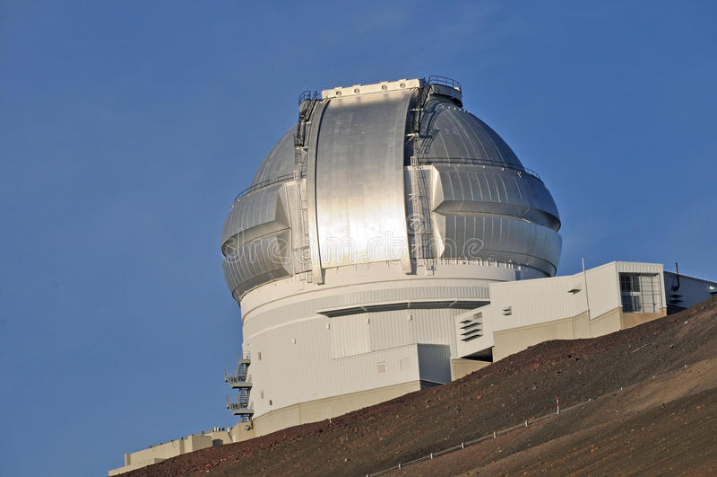 Telescope dome on Mauna Kea royalty free stock photos