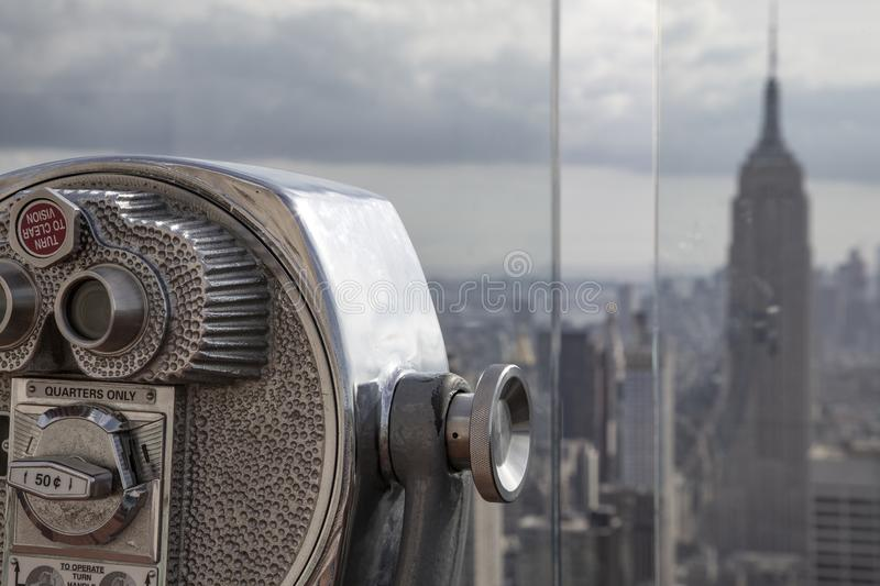 Telescope Empire State Building stock image