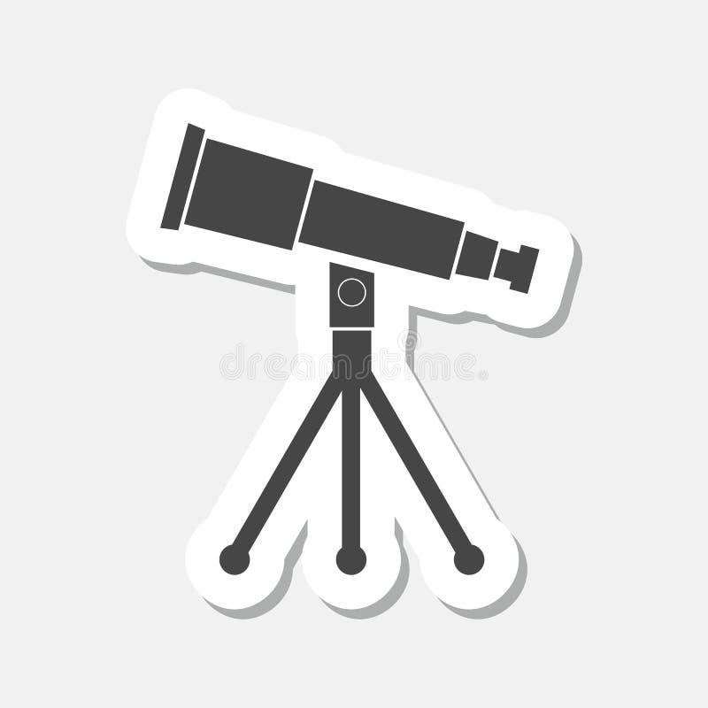 Telescope icon sticker royalty free illustration