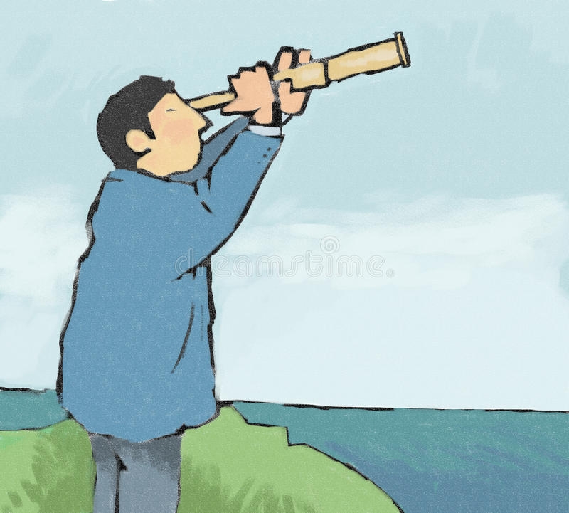 Telescope stock illustration