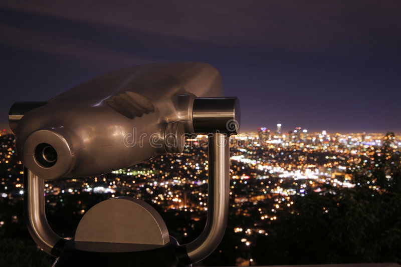 Download Telescope at Night 2 stock image. Image of electric, light - 7015207
