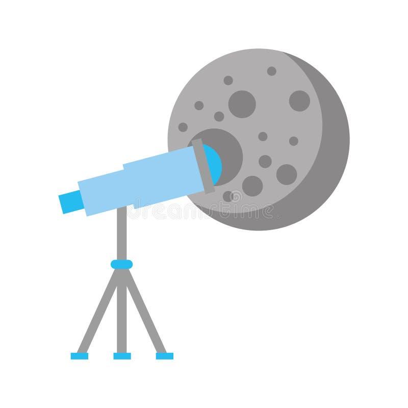 Telescope observing the moon. Vector illustration design stock illustration