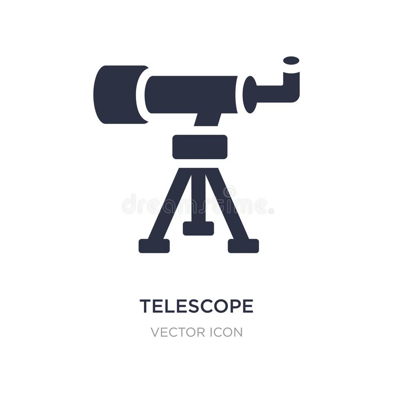 telescope pointing up icon on white background. Simple element illustration from Astronomy concept stock illustration