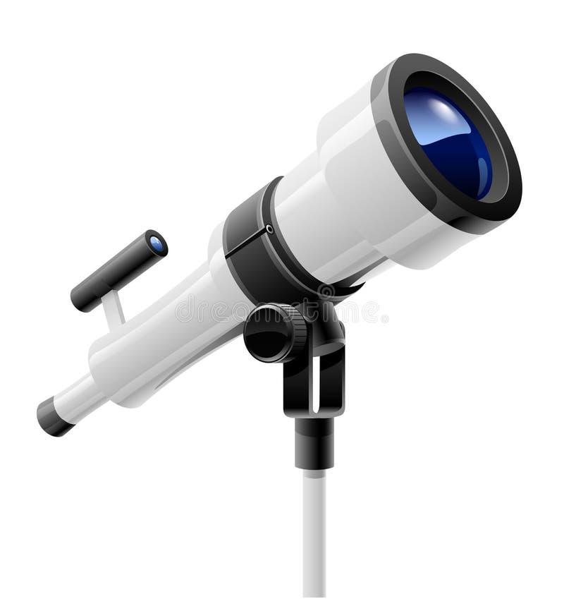 Telescope on support stock illustration