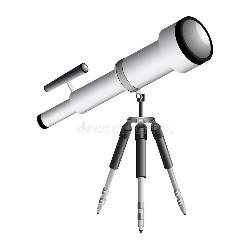 Telescope On Tripod Royalty Free Stock Images