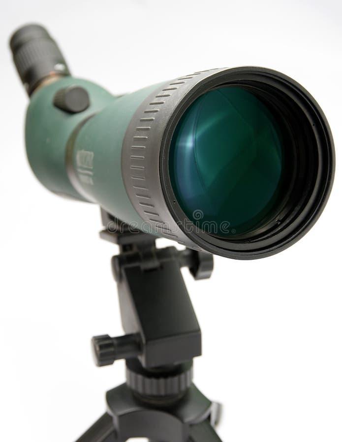 Telescope  On White Stock Photography