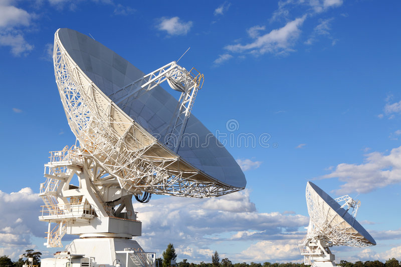 Telescopi radiofonici, Australia immagine stock