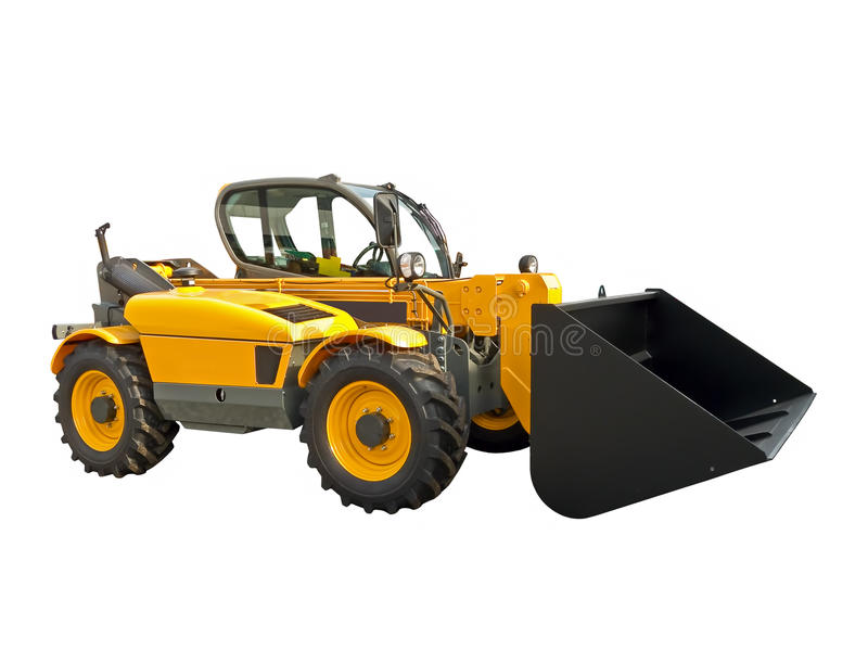 Telescopic handler royalty free stock photos