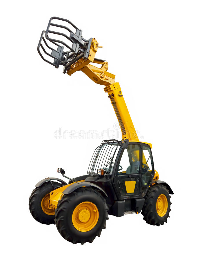 Telescopic loader stock photo
