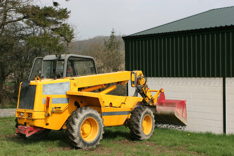 Download Telescopic Loader Tipping Gravel Stock Photo - Image: 759474