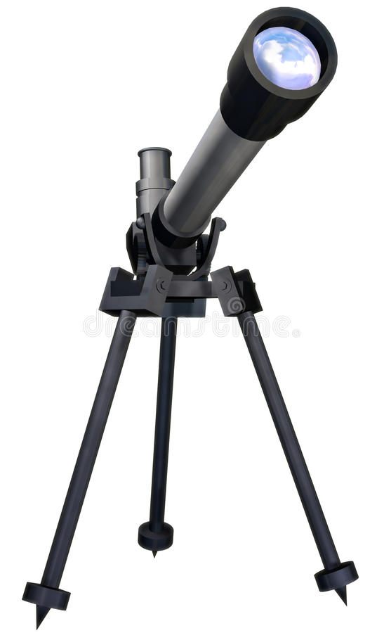 Telescopio ilustración del vector