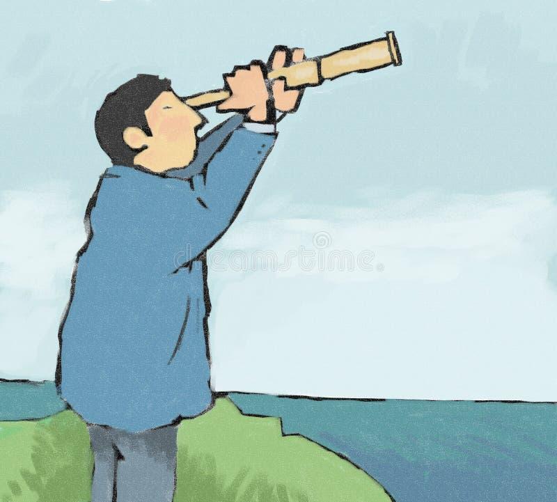 telescopio illustrazione di stock