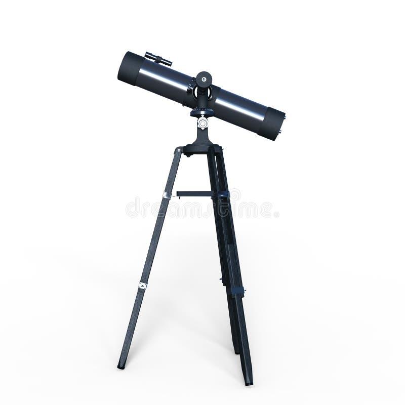 Telescopio astronómico stock de ilustración