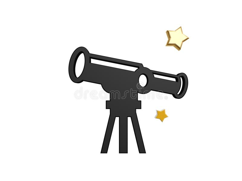 Telescopio astronómico ilustración del vector