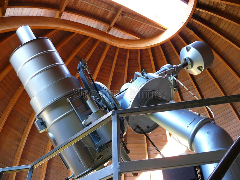 Telescopio astronomico fotografie stock