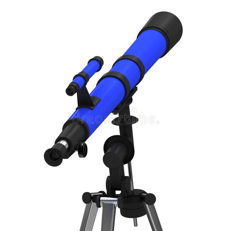Telescopio azul ilustración del vector