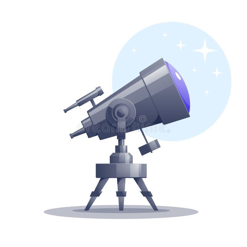Telescopio de la historieta del vector ilustración del vector