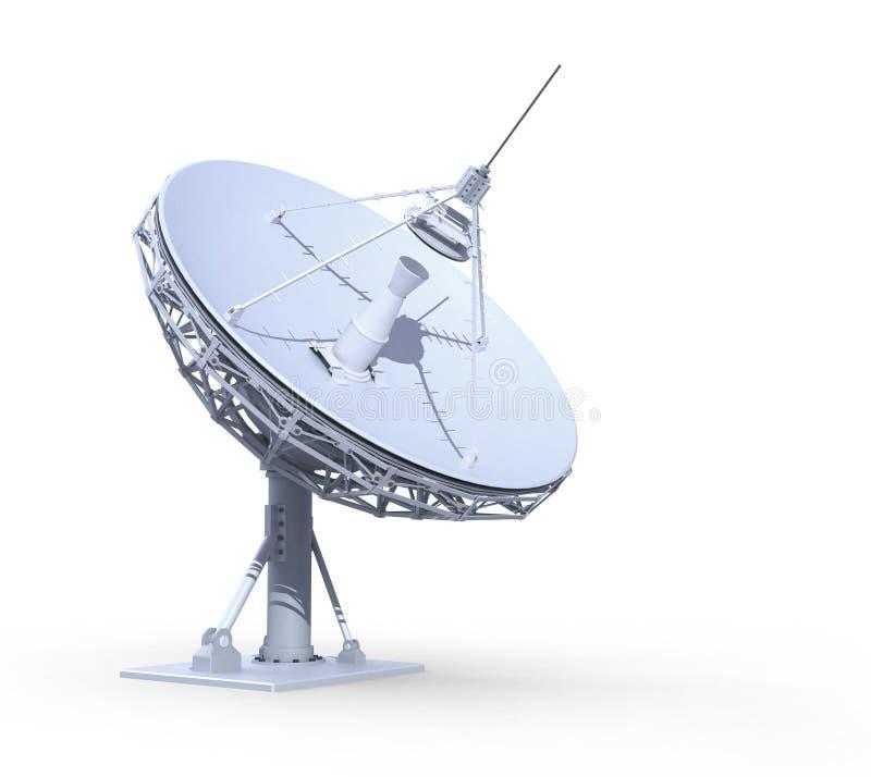 Telescopio de radio ilustración del vector