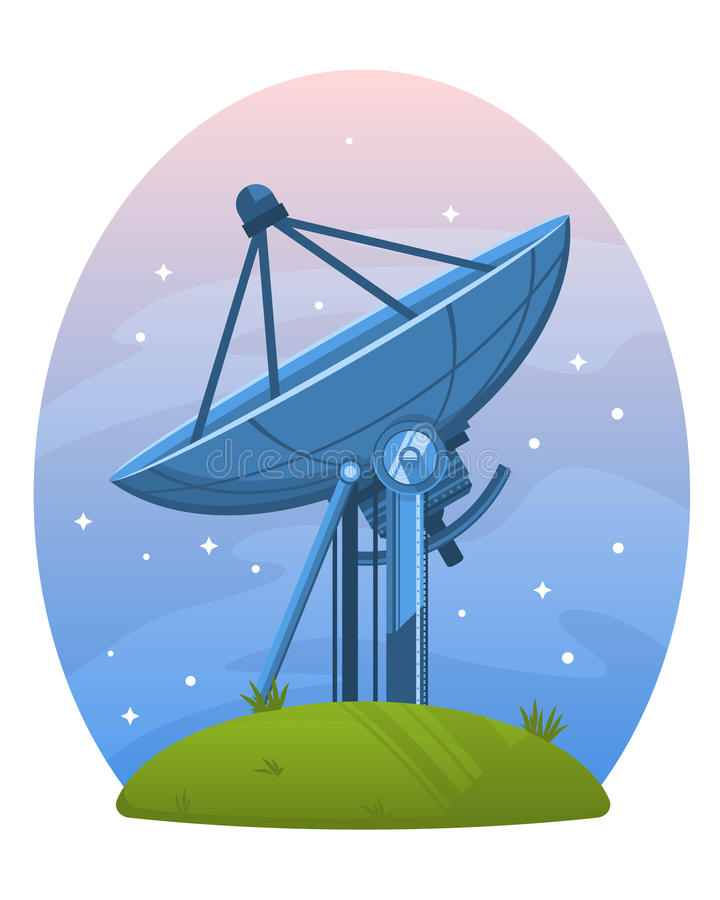 Telescopio de radio de Lovell stock de ilustración