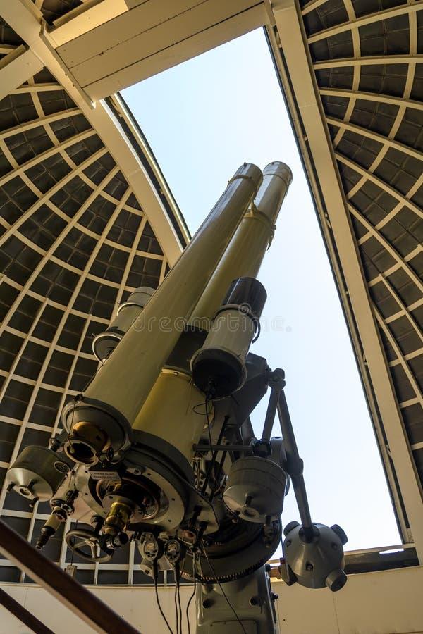 Telescopio de Zeiss en Griffith Observatory imagenes de archivo