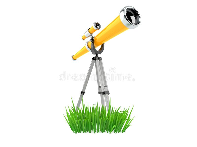 Telescopio en hierba libre illustration
