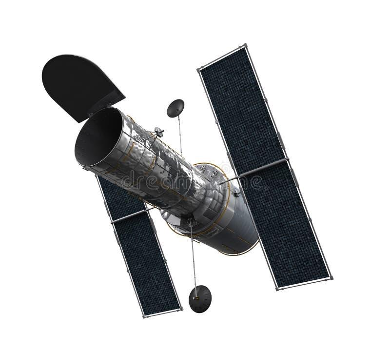 Telescopio espacial aislado stock de ilustración