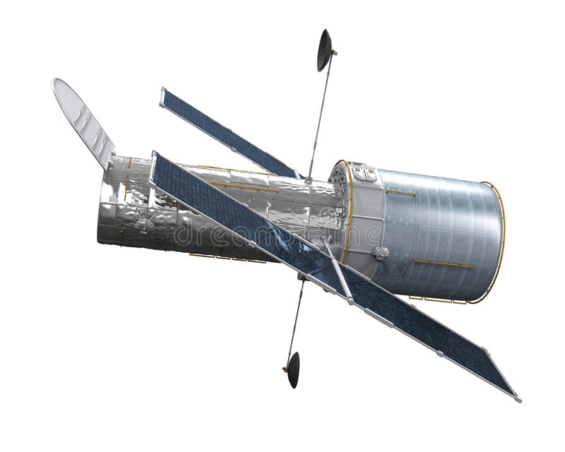Telescopio espacial aislado libre illustration