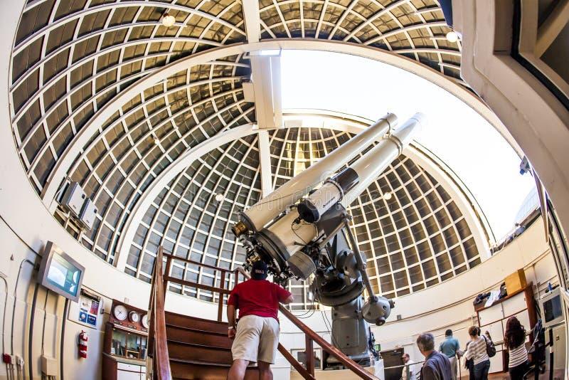 Telescopio famoso de Zeiss en imagen de archivo libre de regalías