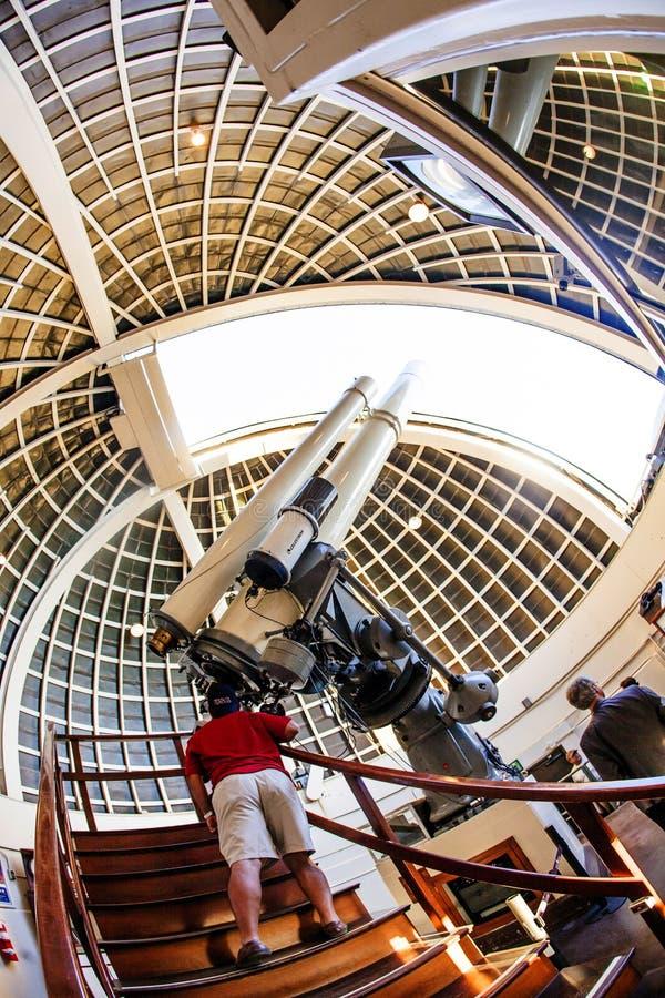 Telescopio famoso de Zeiss en foto de archivo