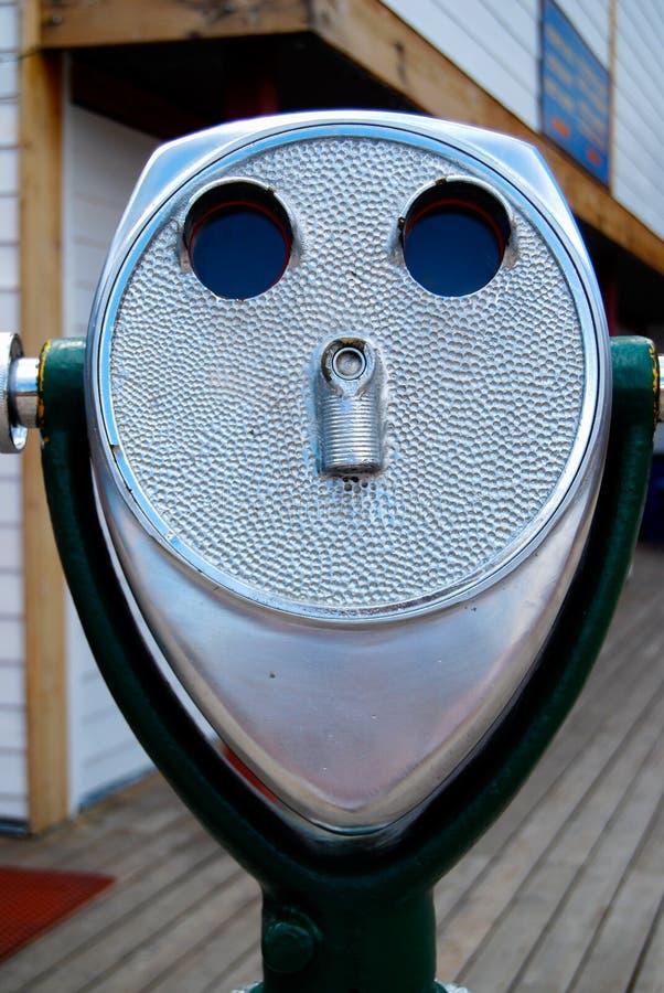 Telescopio a gettoni del binocolo immagine stock libera da diritti